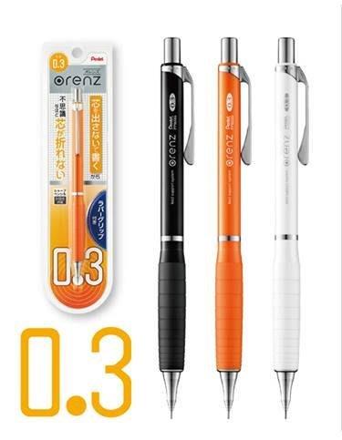 {阿治嬤}Pentel ORENZ XPP603G 第二代0.3mm按一下不斷芯自動鉛筆,共3色