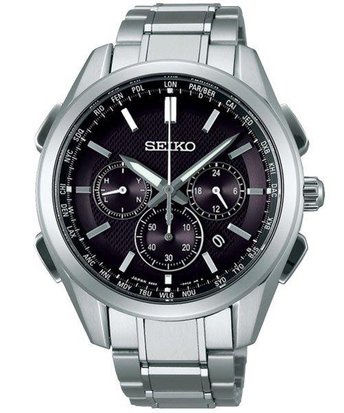 SEIKO BRIGHTZ 太陽能【鈦】電波腕錶(SAGA197J)-黑/43mm8B92-0AA0D