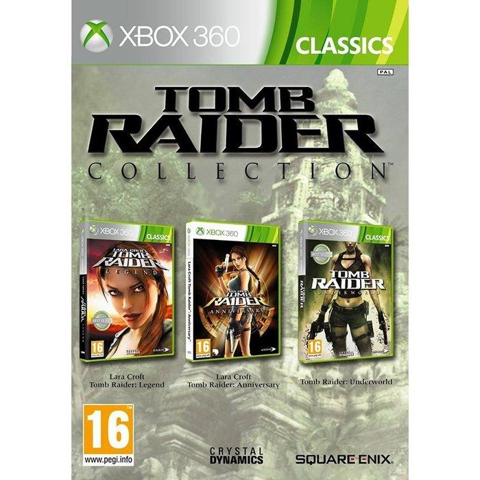 全新未拆 XBOX 360 古墓奇兵三合一三部曲(3片裝) -英文版- Tomb Raider 蘿拉