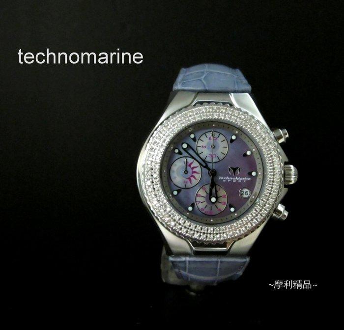 【摩利精品】Technomarhe sport天寶運動鑽石計時錶*真品*