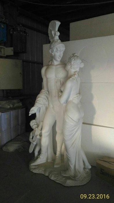居家、家具與園藝  園藝/庭院用具  園藝 225m 雕像 室內外皆可,白色塗裝完成,未含運費@$58,000