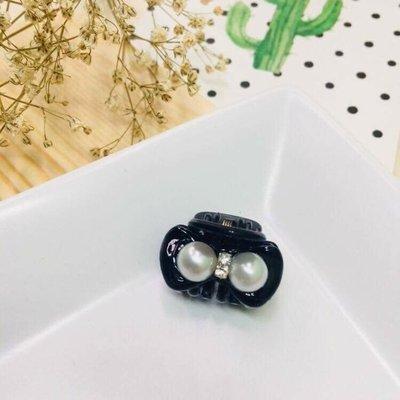 現貨 供應 茉莉 正韓 質感 髮飾 韓國 飾品 珍珠 水鑽 氣質 抓夾