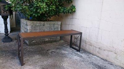 [兄弟牌戶外休閒傢俱] 無背雙人塑木長椅L120*W34*H45~可固定地上,門口騎樓公園陽台堅固耐用休閒二人長椅。