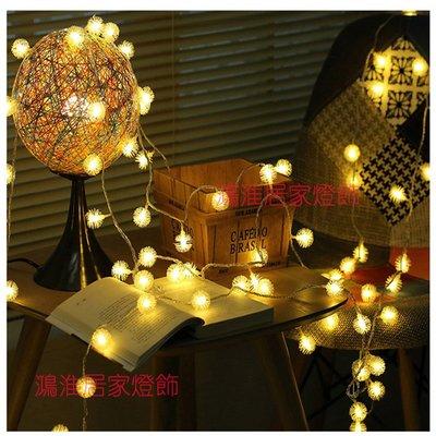 現貨出貨 5公尺50燈 戶外防水彩燈led毛球燈串 USB蒲公英LED燈串 5V聖誕燈背景燈直播燈 LED雪花 露營必備