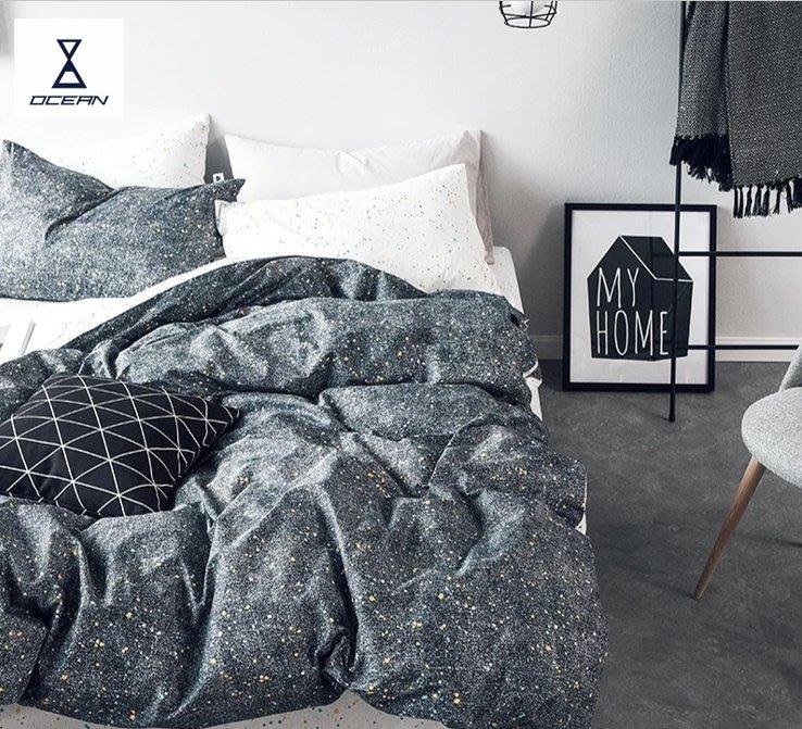 北歐風 日夜星空/白晝星空/黑夜星際2.0M(特大雙人)高質感 100%純棉床單 雙人四件套 雙人加大 床單/床包/床套