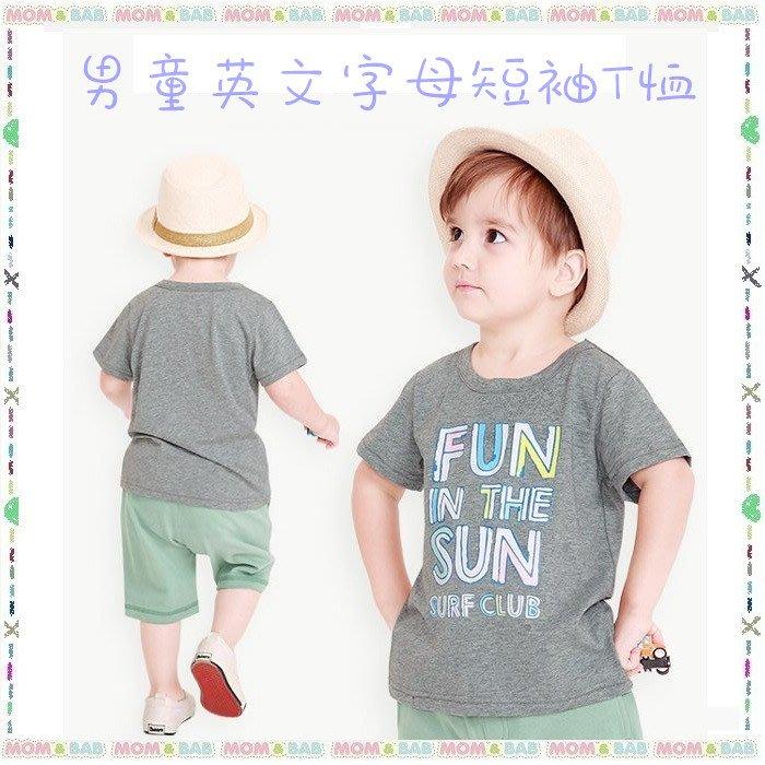 ❤大老婆小寶貝❤夏天mom and bab 英文字母短袖上衣/純棉短T~24m、3T、4T、5T、6T、7T