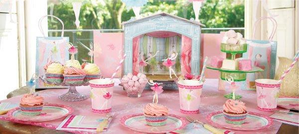 芭蕾小棧生日畢業表演出禮物英國MERI MERI舞者派對用品組Birthday party紙杯紙盤桌巾吊飾劇院