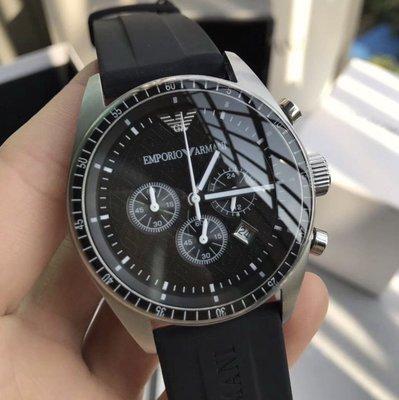 [Queen bee 代購] ARMANI 亞曼尼手錶AR0527炫酷運動版矽膠錶帶男士手錶/保固/免運