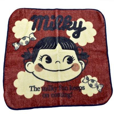 不二家 PEKO 手帕 小方巾 日本正版品 Sanrio Milky 100%綿