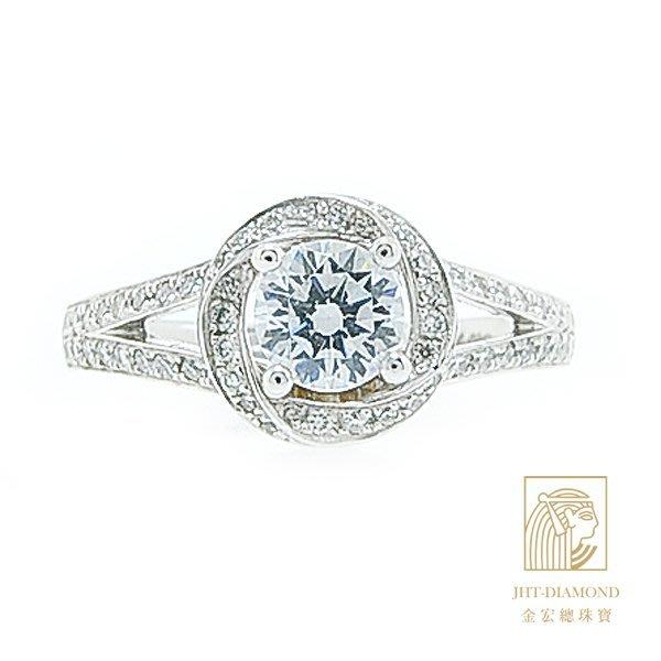 【JHT 金宏總珠寶/GIA專賣】婚戒/鑽戒 女鑽石戒台 (不含搭配主鑽)JRM044