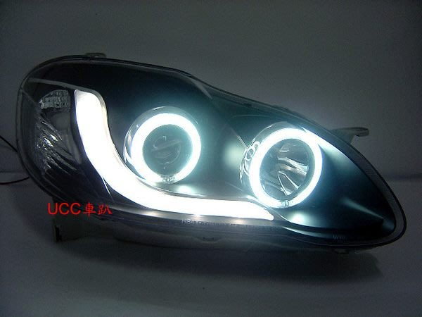【UCC車趴】TOYOTA 豐田 ALTIS 01-07 R8燈眉 光圈 魚眼 投射 黑框
