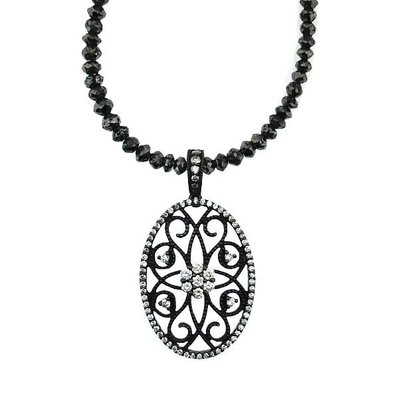 【JHT 金宏總珠寶/GIA鑽石專賣】2.00ct天然黑鑽鍊/材質:18K/(JB42-A18)