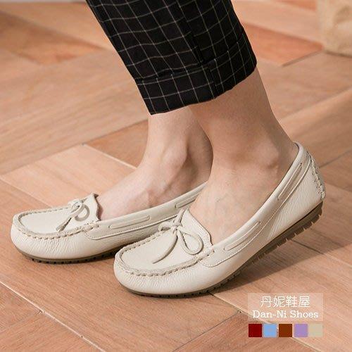 1108 豆豆鞋 平底鞋 水洗皮革 美好假期蝴蝶結柔軟升級豆豆鞋 MIT台灣製造手工鞋   丹妮鞋屋