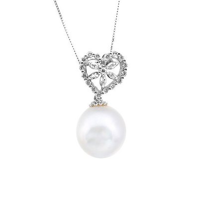 【JHT 金宏總珠寶/GIA鑽石專賣】天然珍珠鑽墜/材質:14k(PP00044)