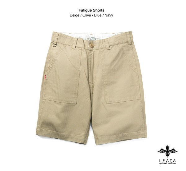 GOODFORIT / 韓國LEATA Fatigue Shorts 四口袋軍用布材短褲(三色)