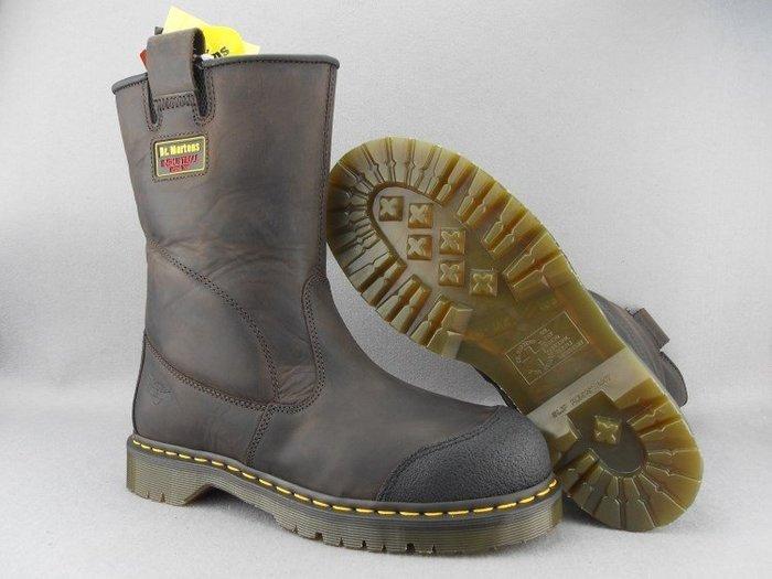 香港代購 Dr.Martens馬丁大夫鞋 棕色瘋馬皮牛仔靴雪地靴工作靴工作鞋登山靴鞋休閒鞋類似Timberland