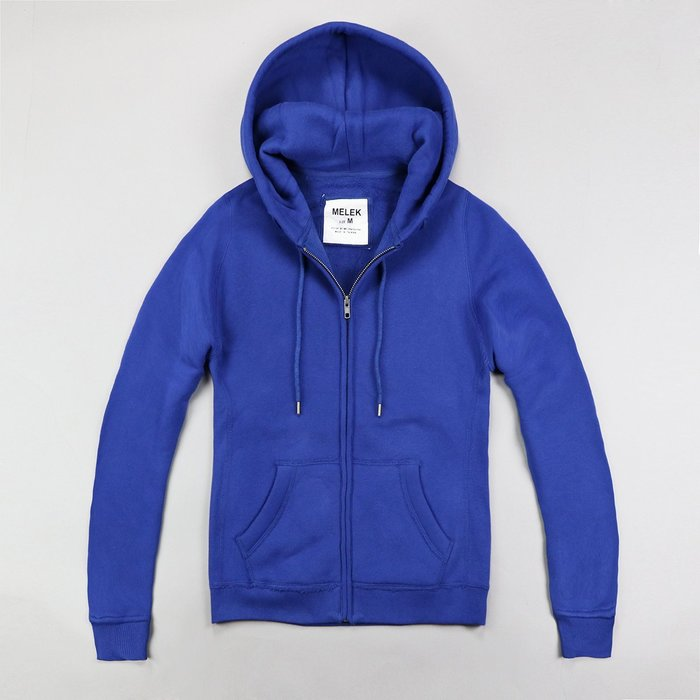 ~MELEK Clothes~~MELEK~MELEK女款棉質連帽外套全素款寶藍 I011