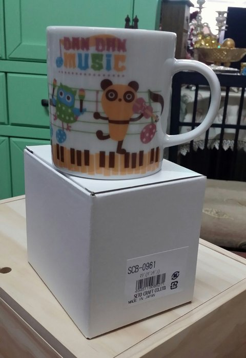 美生活館 日本創意商品 陶瓷 音樂 馬克杯 (C) 日本製 水杯 咖啡杯 餐廳 店面 自用收藏民宿鄉村 日雜 Zakka