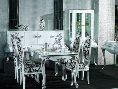 【大熊傢俱】新古典 HL5 餐桌 餐椅 餐桌椅組