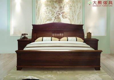【大熊傢俱】816 六尺 床架 雙人床 床台 實木床 現貨 實木傢俱 工廠直營 實體賣場