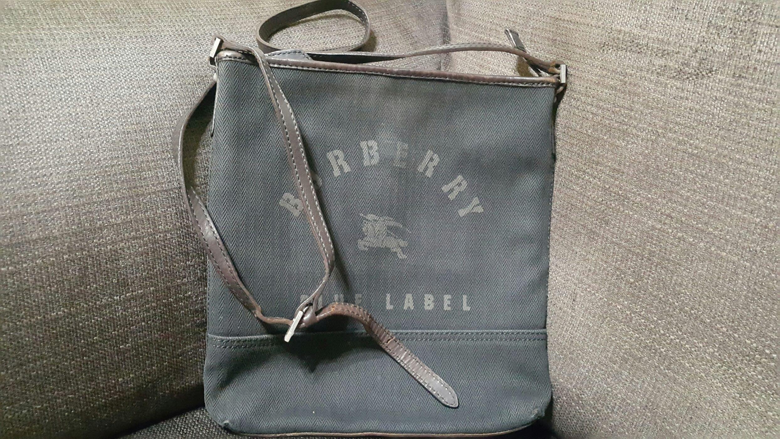 時尚二手屋黑色Burberry斜背包