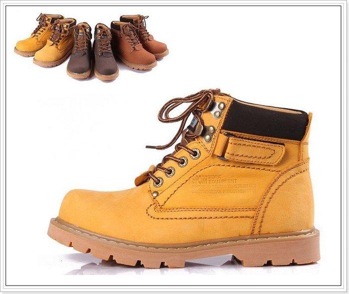 『黑餃ㄇㄇ』【ZE011】春款新品 CAT同廠 男女款 馬丁靴 圓頭靴 戶外工作鞋 任兩雙免運