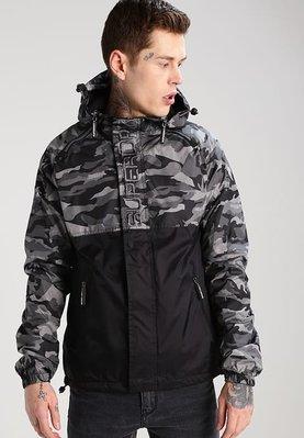 現貨大尺寸 極度乾燥 Superdry Dual Zip Through Jacket 刷毛保暖 風衣 外套 限量黑迷彩