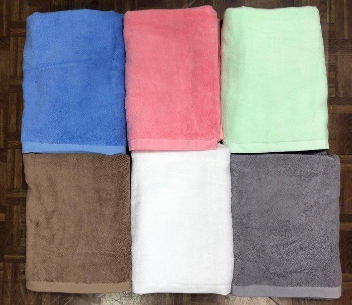 【台灣製】16兩 高級雙股紗素面浴巾 #飯店專用款#超厚實