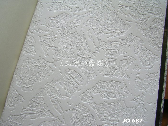 【大台北裝潢】JO國產現貨壁紙* 白底凸紋(2款) 每支360元