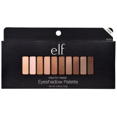 【愛來客 】美國彩妝 elf Mad for Matte Eyeshadow Palette 霧面大地裸色10色眼影盤