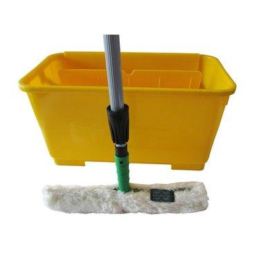 地板止滑工具《防滑大師》兔毛刷組+清潔桶+兩段式伸縮桿