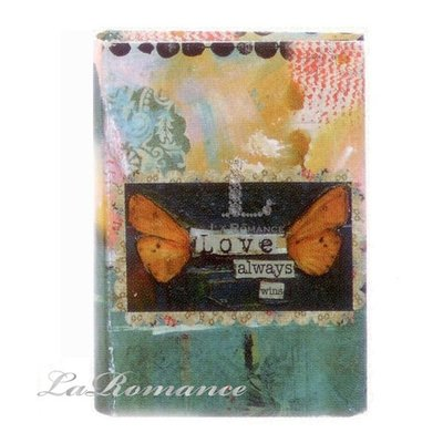 【Heart & Home】Kelly Rae Roberts 心戀家居系列紙製書本造型收納盒 - 小 (love always wins ) / 書盒