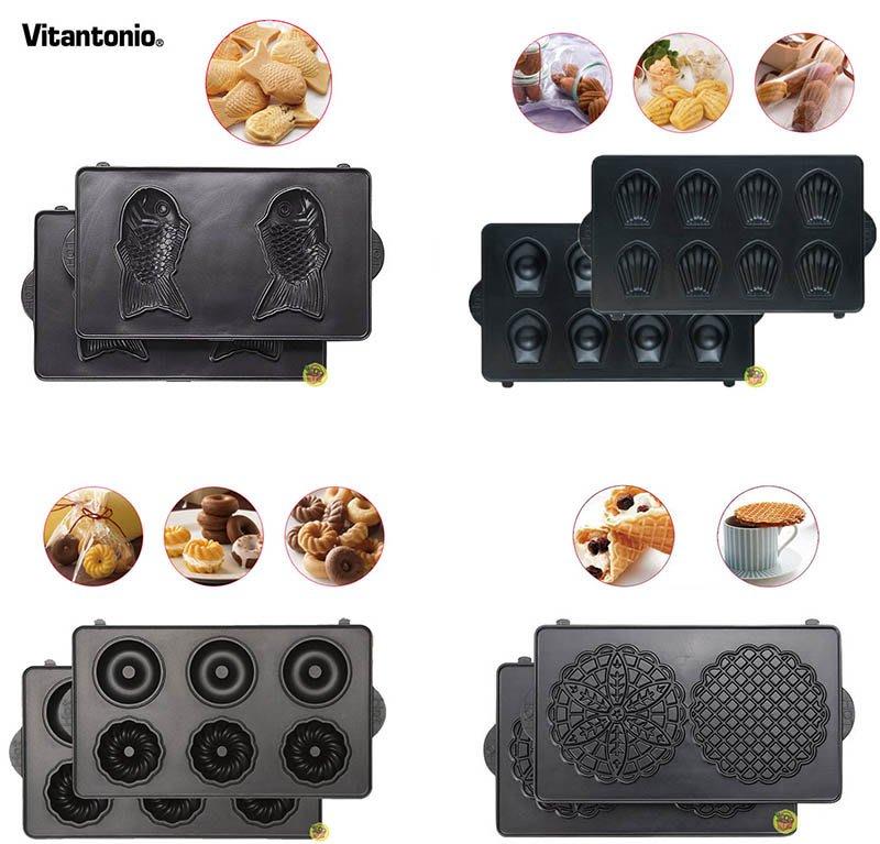 【JPGO】日本進口 Vitantonio 鬆餅機專用烤盤~鯛魚燒#322 法式薄餅292 甜甜圈261 瑪德蓮278