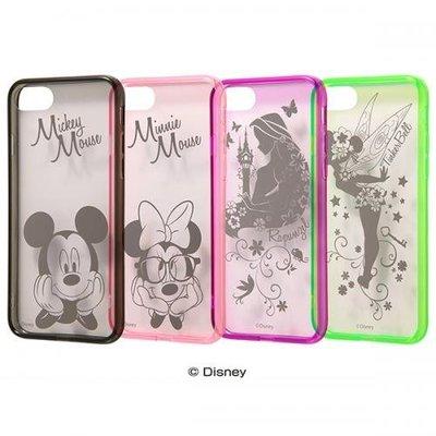 尼德斯Nydus 日本正版迪士尼 TPU軟殻 透明手機殼 米奇米妮 長髮公主 小精靈 5.5吋 iPhone7 Plus