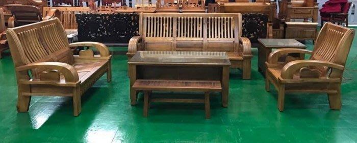 樂居二手家具 全新中古傢俱 EA520BBJJ 全新樟木沙發123茶几組*客廳桌椅/各式布沙發全新2手價 台北桃園新竹
