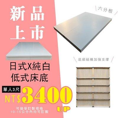 HOME MALL和懋傢俱-安娜簡約低式六分板床底(可訂製高度10-15公分內)白色貼皮/3尺-$3400元