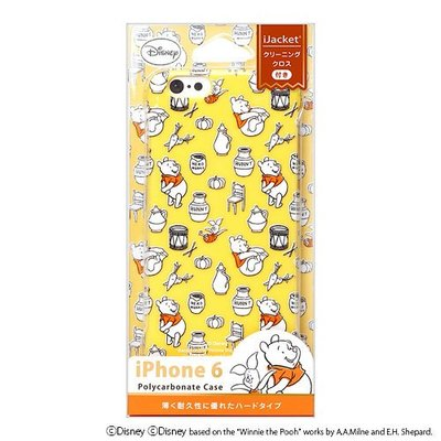 尼德斯Nydus~* 日本正版 迪士尼 小熊維尼 Winnie 硬殼 手機殼 4.7吋 iPhone6
