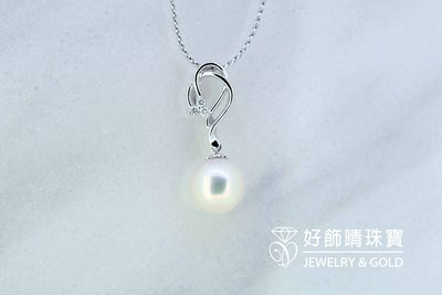天然珍珠墜10.5mm+天然鑽石 / ...