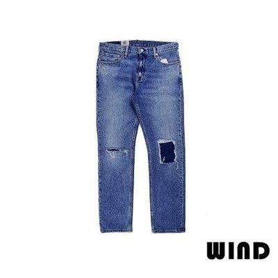 【 Wind 】美國 Levis 511 小直筒 Slim 抽鬚 破壞 貼布 刀割 重磅 牛仔褲 RIP   現貨38