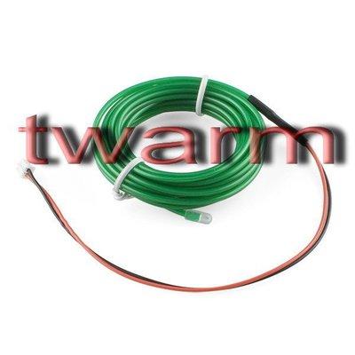 《德源科技》r) Sparkfun原廠 EL Wire冷光發光條3m - Green綠色 (COM-10194)