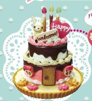 ♥可兒派對♥ 可兒娃娃 芭比娃娃 莉卡娃娃 Re-ment Cake Set 食玩 迪士尼 米妮 生日蛋糕