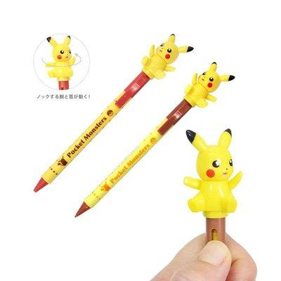 日本童裝 神奇寶貝 皮卡丘 坐姿 公仔可動 Pokemon  原子筆/自動鉛筆  日本正版 日本空運~小太陽日本精品