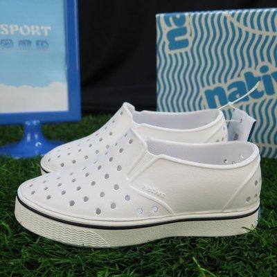【iSport愛運動】Native MILES CHILD 童鞋 洞洞鞋 正貨新品 131046001999 白色