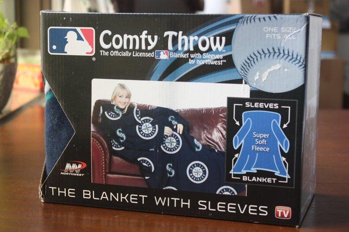 【Comfy Throw】100% 全新正品 美國職棒大聯盟授權 西雅圖水手 穿式毛毯 蓋毯