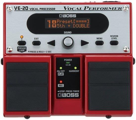 【六絃樂器】全新 Boss VE-20 Vocal Performer 主唱歌手人聲效果處理器 / 現貨特價