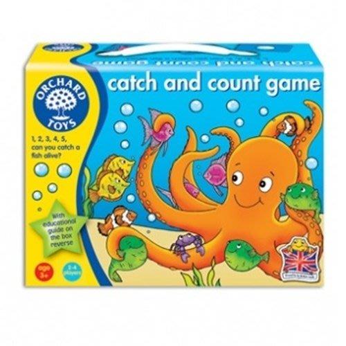 *小P書樂園* 英國【Orchard Toys】幼兒釣魚數數遊戲 catch and count/B