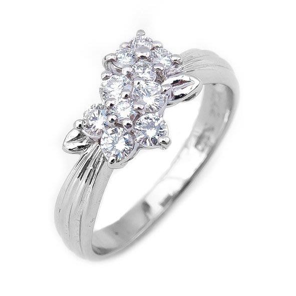 【JHT 金宏總珠寶/GIA鑽石專賣】0.42ct天然造型鑽石戒指/材質:PT900(JB25-A49)