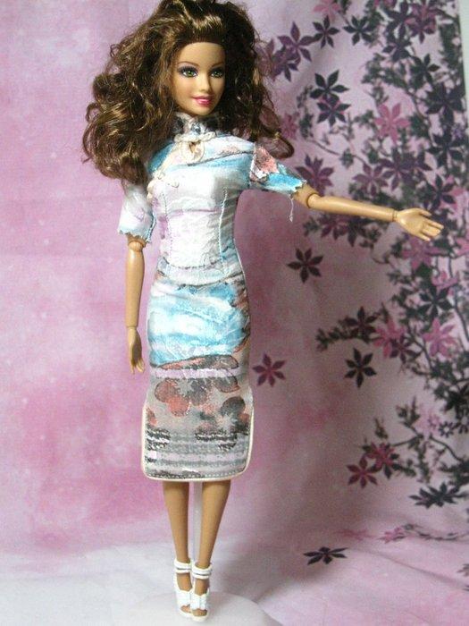愛卡的玩具屋 可兒.芭比.珍妮娃娃可穿 -純手工制作旗袍9