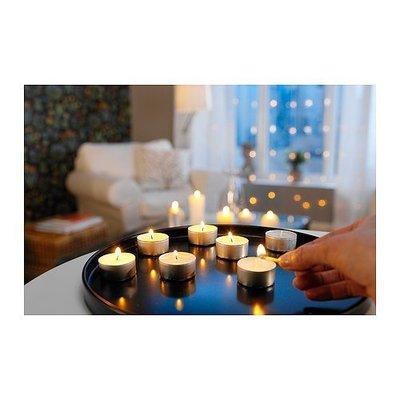 GLIMMA白色無煙環保小蠟燭 100顆/包 薰香/情境/氣氛/照明/溫茶/巧克力