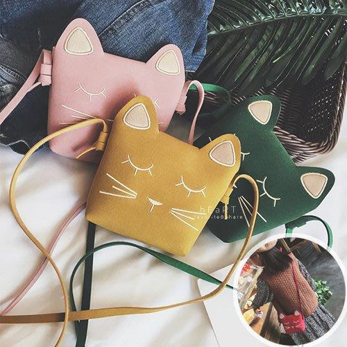 【可愛村】麂皮手感親子貓咪斜背包 背包 斜背包 貓咪